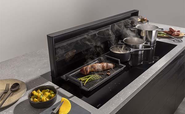 Novy introduceert kookplaat met afzuiging in 5 kookzones