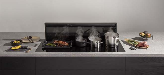 Novy Kookplaat met afzuiging in 5 kookzones