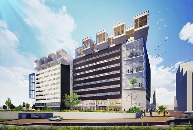 Kantoorgebouw Belvédère in 's-Hertogenbosch bereikt hoogste punt