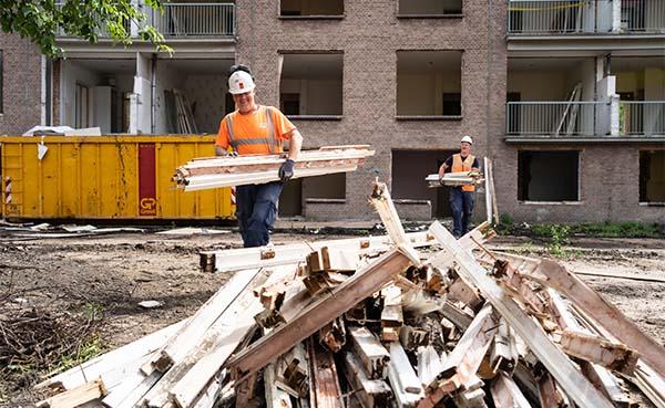 80% van materiaal uit drie Amsterdamse sloopprojecten wordt hergebruikt