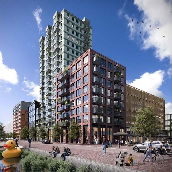 Bouw project BinnenDok op NDSM-werf Amsterdam gestart
