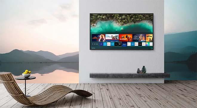 The Terrace van Samsung, een QLED 4K TV voor buiten