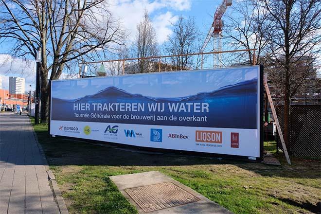 Stella Artois-brouwerij krijgt werfwater van nabij gelegen bouwwerf