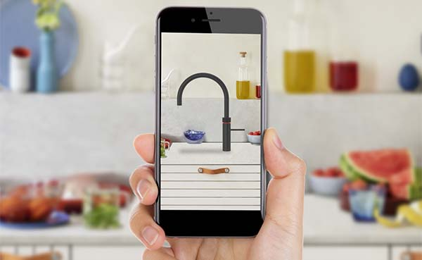 Ontdek hoe een Quooker in je keuken staat met de QR-code