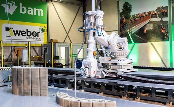 Weber Beamix zet volgende stap in 3D betonprinten