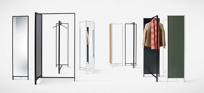 van Esch presenteert Frame wandkapstok, spiegel en paraplubak