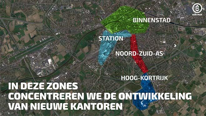 Kortrijkse kantorenmarkt heeft nog voor 100.000 m2 extra kantoren