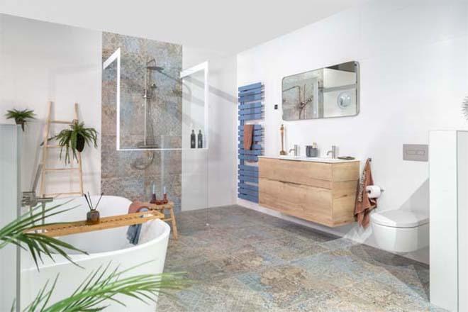 De mediterrane Stijlbadkamer van mijn bad in stijl