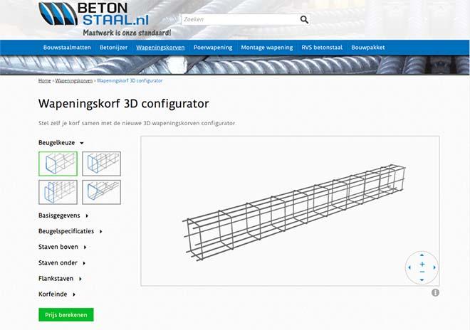 3D-wapeningconfigurator laat aannemer productiemachine aansturen