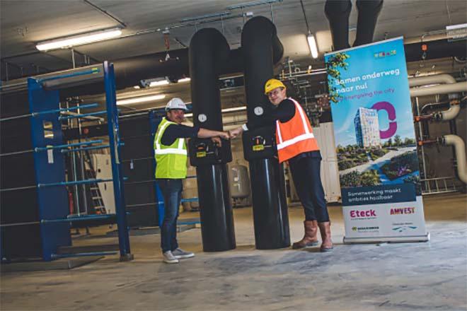 Innovatief warmtesysteem voor wijk Hortus op Floriadeterrein opgeleverd