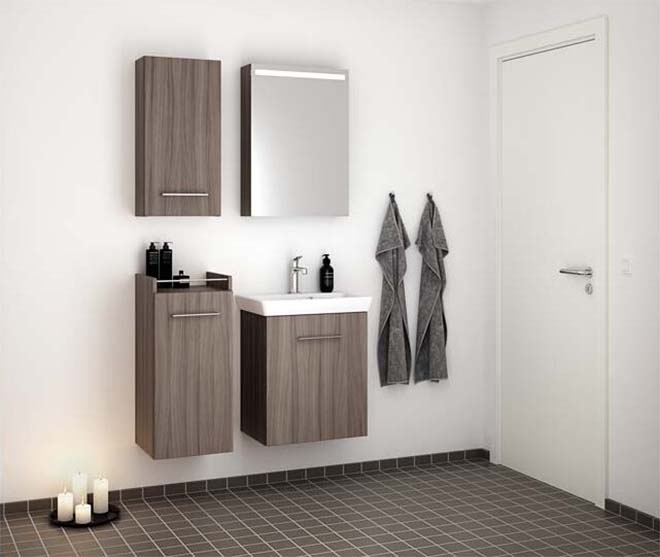 Complete badkamer in een beperkte ruimte
