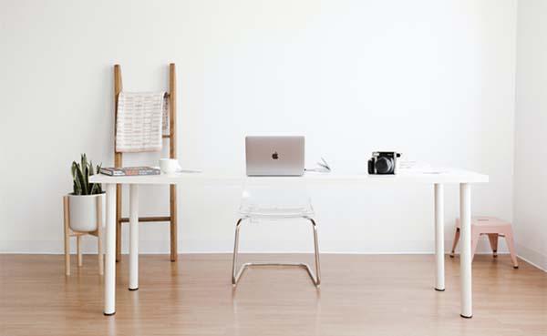 Je inrichting minimalistisch stijlen met een decoratieve ladder?