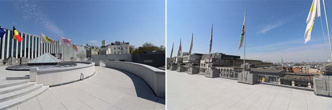 Een nieuw dakterras voor Bozar (Paleis voor Schone Kunsten) in Brussel