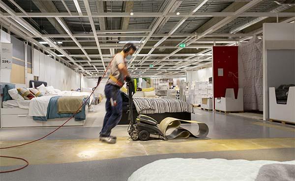 Tarkett recycleert vloer voor IKEA in Aarlen
