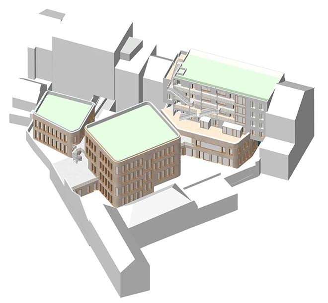 Symbolic kick-off site for new school and passive houses in the heart of Brussels