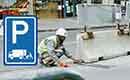 Verkeerborden rondom verbouwingswerkzaamheden