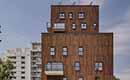 Bamboe verfraait gevel appartementencomplex op duurzame manier