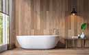 Hout verwerken in de badkamer