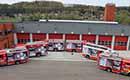 Brandweerwagens als reclameborden voor brandveiligheid