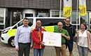 Recticel Insulation schenkt cheque van €1.000 aan Rode Kruis Zwevegem